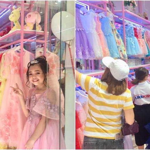 Diễn giả Lê Văn Hiển cùng nhà thiết kế Hương Nhi khai trương cửa hàng thời trang LikeKids ở trung tâm Quận 3